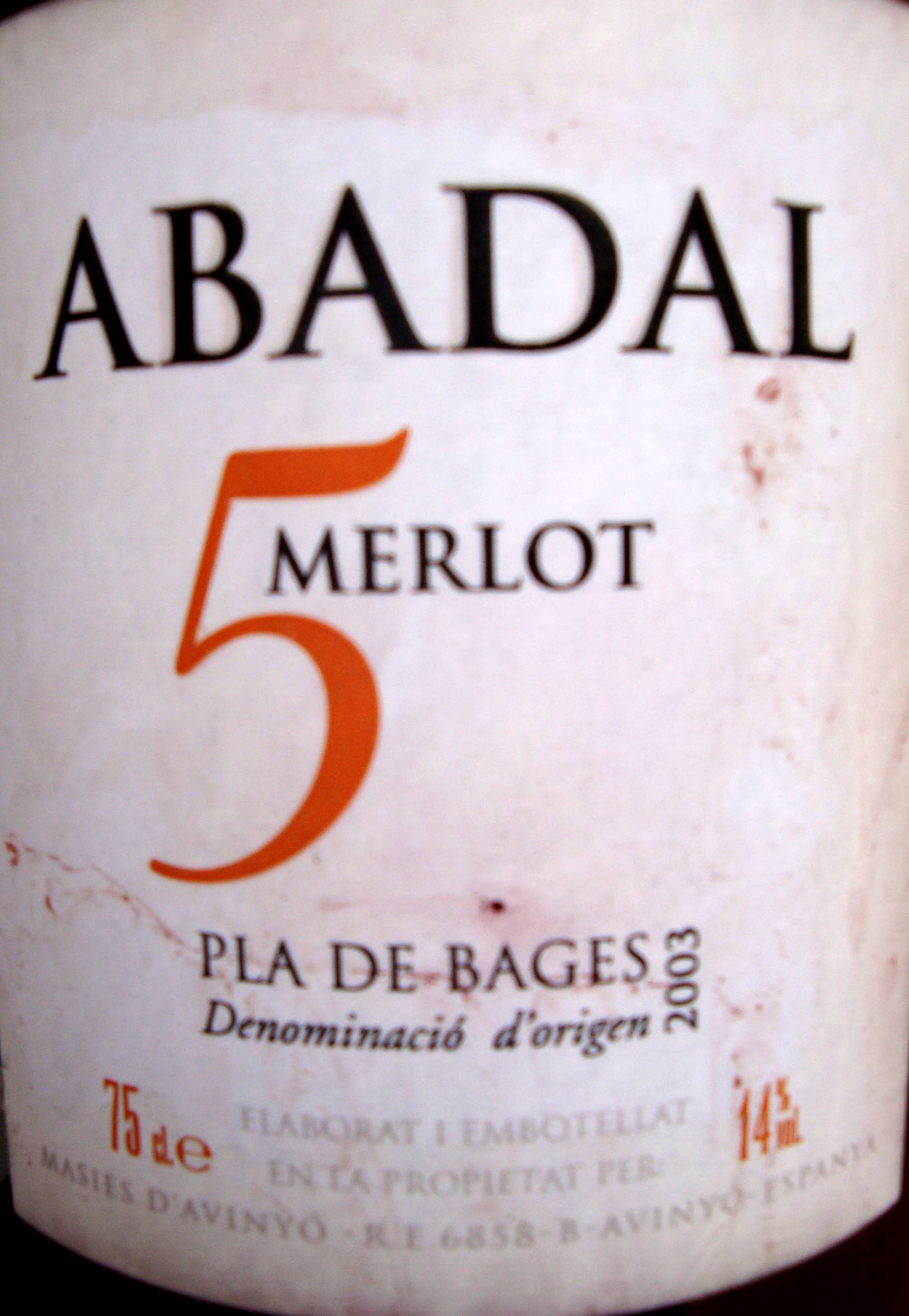 Label Abadal 5
