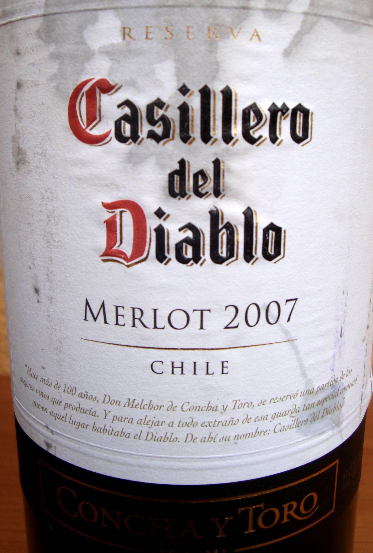Label Casillero Merlot