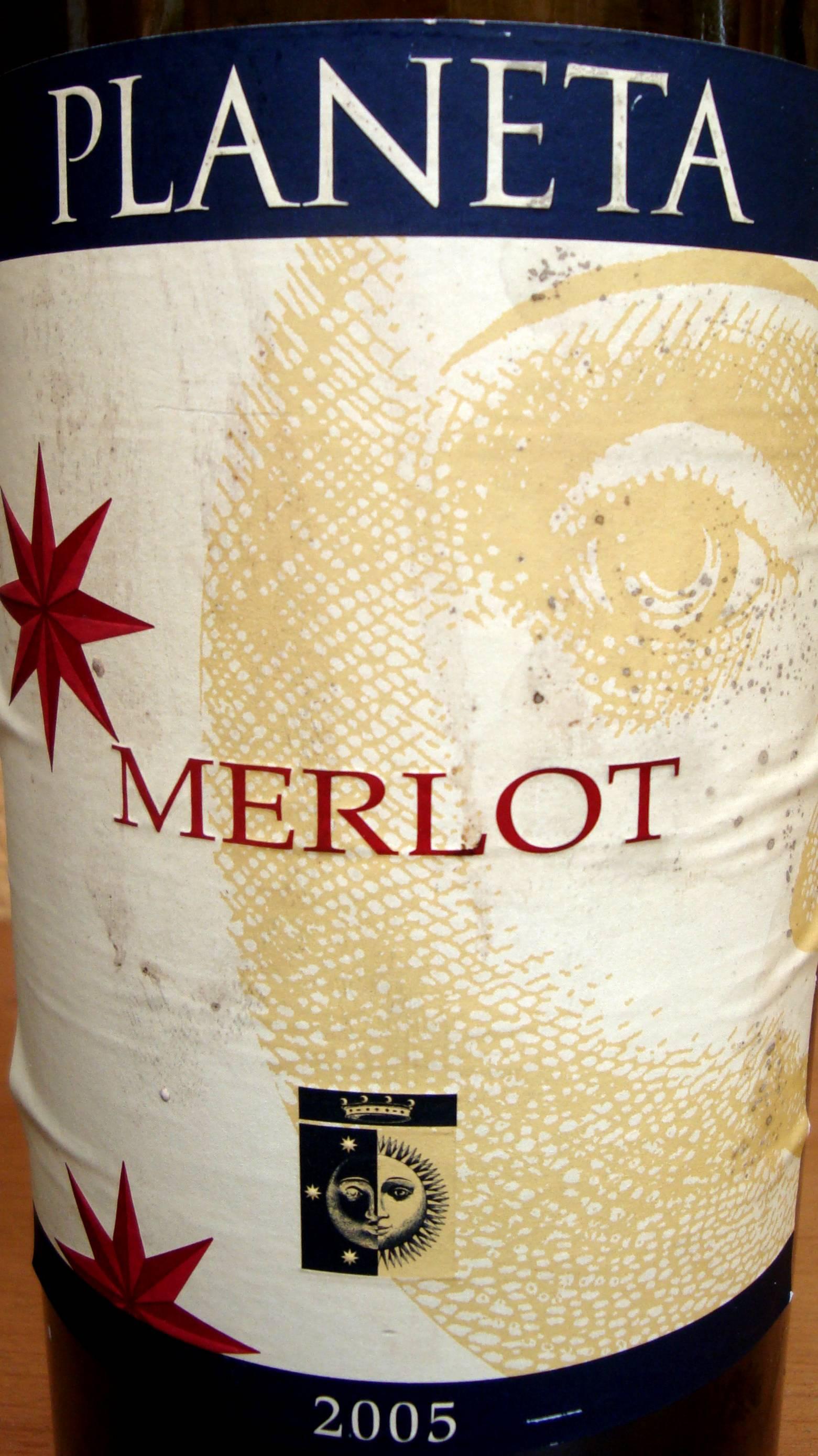 Label Planeta Merlot
