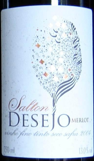 Merlot Desejo label