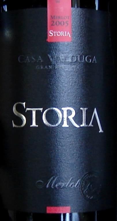 Merlot Storia label