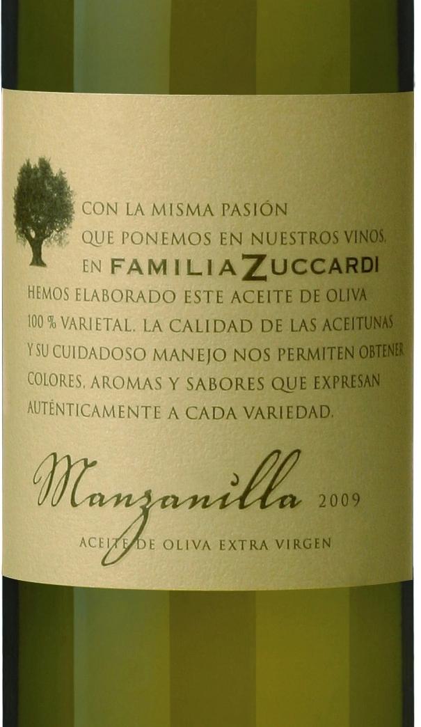 Zuccardi azeite Manzanilla 2009