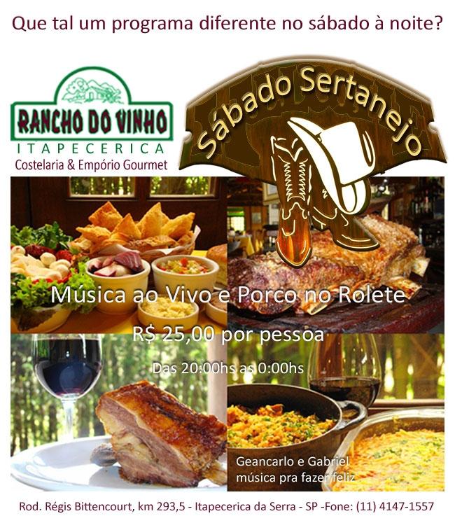 Rancho  do Vinho - Sábado Sertanejo