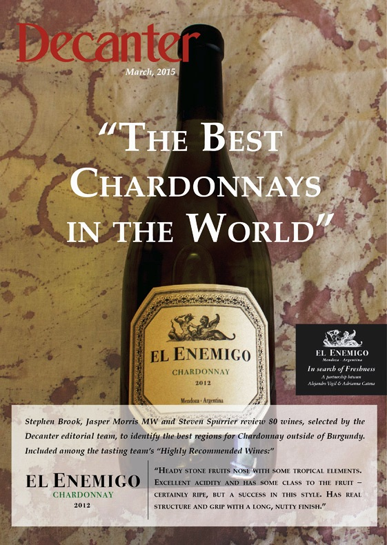 El Enemigo Chardonnay March 015 revista decanter