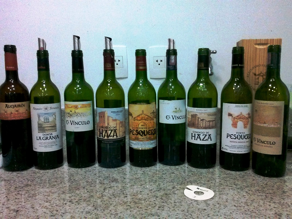 Pesquera wine selection