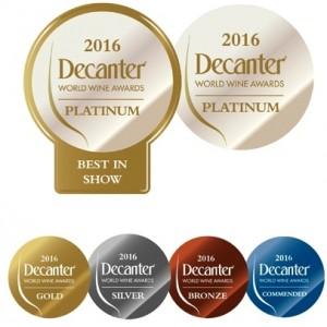 medalhas decanter wine Awards