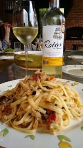 Harmonização - alentejo com spagheti e bacalhau